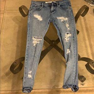 Distressed BM jeans